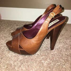 Steve Madden gorgeous leather platform heels 8